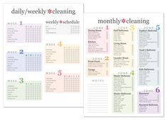 Custom Cleaning Checklist - Home Cleaning Schedule House Cleaning Checklist, Weekly Cleaning, Camping Checklist, Cleaning Hacks, Cleaning Contracts, Cleaning Routines, Cleaning Lists, Camping Packing, Cleaning Recipes