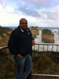 Standing in the backdrop of the 12 Apostles