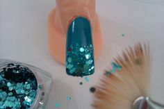 DIY Nail Art Designs and Nail Polish Tricks: How to Do a Gradient Glitter Tip in 3 Steps