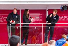 hrhduchesskate:  HeadsTogether Charity of the Year, 2017 Virgin Money London Marathon, April 23, 2017-William, Catherine and Harry