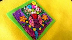 """Twitter Just finished making my button art  """" Tree of Love """"xx next  step is to frame it"""
