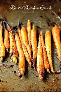 Roasted Rainbow Carrots #roastedcarrots #foodporn #yummy http://livedan330.com/2014/12/05/roasted-rainbow-carrots/