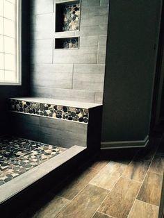 Trendy bathroom remodel tile shower walk in master bath Ideas Tile Walk In Shower, Master Bathroom Shower, Diy Shower, Bathroom Ideas, Bathroom Remodeling, Shower Tiles, Bathroom Showers, Basement Bathroom, Bath Ideas