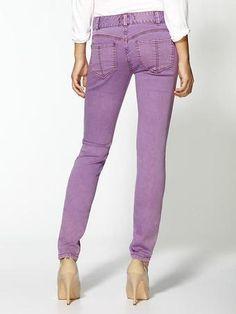 Free People Purple Skinny Jeans