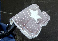 Kuscheliger Kinderwagenmuff Stern wasserabweisend von Dinkelundmehr auf DaWanda.com