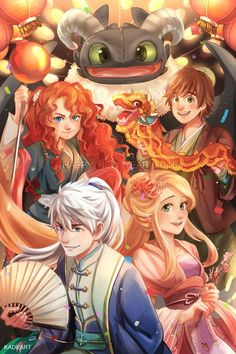 The big four. Other culture au? I love this. Especially toothless <3