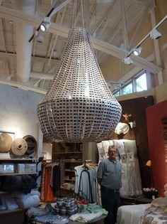 Anthropologie by turquesa bleu, via Flickr. Giant chandelier made from film slides. #anthrofave #juvenilehalldesign