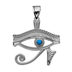 Sterling Silver Egyptian Blue Eye of Horus Pendant Necklace * You can get additional details at the image link. (This is an affiliate link and I receive a commission for the sales)