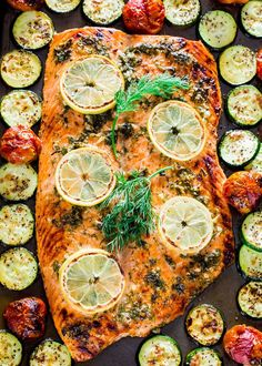 This Honey Garlic Salmon and Veggies Sheet Pan Dinner is about as easy as it gets to get dinner on the table in 30 minutes and the cleanup is a cinche!