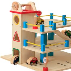 Toy Car Garage - 2 levels with lift