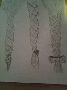 ♥How to draw: braids! How To Draw Braids, Tattoos, Drawings, Tatuajes, Tattoo, Sketches, Drawing, Portrait, Draw