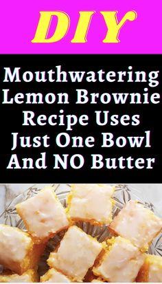 Brownies Recipe No Butter, Lemon Brownies, Nutella Brownies, Lemon Desserts, Healthy Dessert Recipes, Just Desserts, Baking Recipes, Mint Recipes, Sweet Recipes