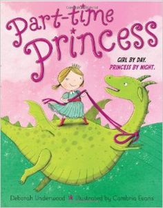 I love that the first thing we see this girl do as a princess is put on a firefighter's hat and save the castle! Not your typical princess book!