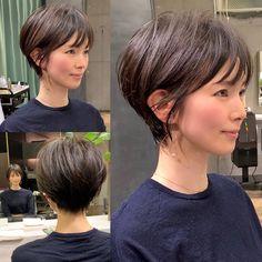 Japanese Short Hair, Asian Short Hair, Short Thin Hair, Haircut For Thick Hair, Short Hair Cuts For Women, Girl Short Hair, Short Hair Syles, Medium Hair Styles, Curly Hair Styles