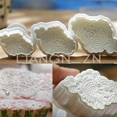 3pcs Embroidery Fondant Macrame Cake Decorating Plunger Cutters Sugarcraft Mould