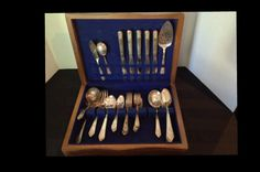 Silverplate Flatware Royal Saxony 46 pieces by TheFlyingHostess