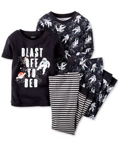 Carter's Baby Boys' 4-Piece Blast Off Pajamas