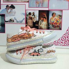 Düğünümde rahat rahat oynamak istiyorum diyenlere tasarım spor gelin ayakkabası 130 TL