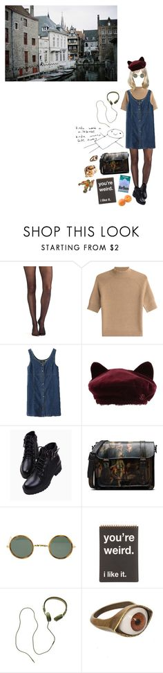 """kinda"" by coffee-and-jazz ❤ liked on Polyvore featuring Wolford, Theory, Maison Michel, Dr. Martens, Ray-Ban, Madewell and vintage"