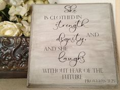 Proverbs 31 Scripture Customizable Bible Verse by OneChicShoppe, $28.00
