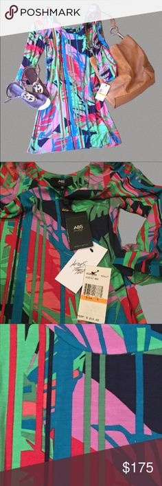 ABS Dress Beautiful soft lightweight dress by Allen B. Schwartz. Purchased at Lord & Taylor. NWT including ABS Authenticity Tag. ABS Allen Schwartz Dresses
