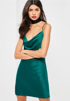 Look sultry in satin and add this shift dress into your sleek 'drobe - featuring a a cowl neck front and a sexy mini length. Grad Dresses, Dresses Uk, Satin Dresses, Simple Dresses, Pretty Dresses, Formal Dresses, Gowns, Silky Dress, Going Out Dresses