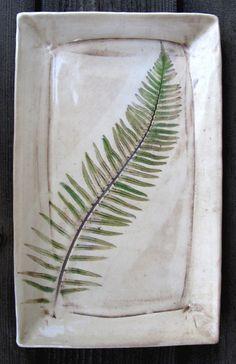 Fern Leaf Platter by Diana Popp pottery design Hand Built Pottery, Slab Pottery, Ceramic Pottery, Pottery Art, Pottery Painting, Ceramic Painting, Ceramic Art, Keramik Design, Pottery Handbuilding