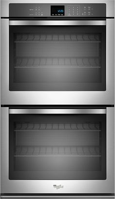 "Whirlpool - 27"" Built-In Double Electric Wall Oven - Stainless steel - Larger Front"