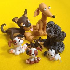 Polymer Clay dogs - love it! They all have such different characters!