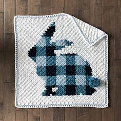 Ravelry: Bunny Rabbit Blanket pattern by Jess Coppom C2c Crochet, Crochet Bunny, Free Crochet, Crochet Afghans, Crochet Ideas, Plaid Crochet, Baby Afghans, Crochet Hats, Crochet Blanket Patterns