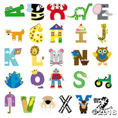 Teach the alphabet is through ABC Letter Crafts. These A to Z alphabet crafts create fun hands-on activities for preschool or kindergarten aged children. Animal Alphabet, Alphabet Letter Crafts, Abc Crafts, Preschool Letters, Alphabet Activities, Toddler Crafts, Toddler Activities, Preschool Activities, Animal Letters