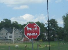 Amish Stop Sign