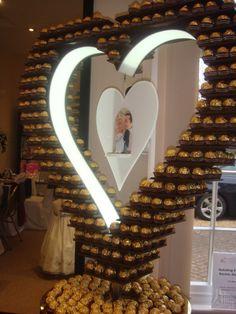 Ferrero Rocher Heart Display http://www.weddingmarket.co.uk/goods-for-hire/ferrero-rocher-stands/