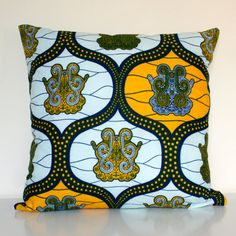 Large African Print Pillow Cushion Cover by softshockdesign, €28.00