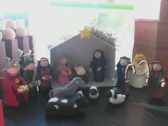 Clay Nativity - Made by Paula Novak for Amazi Craft Fair at Faith Church, Dyer IN