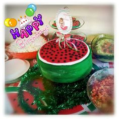 Birthday cake for the Watermelon party
