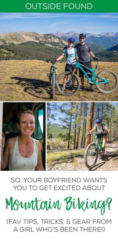 """Let me guess – your boyfriend LOVES mountain biking and wants you to give it a try. I've been there, done that, and come out on top. Here is my favorite tips, tricks, and heartfelt advice for women who are beginner mountain bikers, from how to get started, what gear to buy, and what to tell your dude when he starts saying things like """"just go faster!!!"""""""