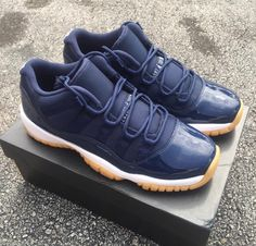 the best attitude 9eda0 0c146 Jordan Retro 11 Low Navy Gum Tenis, Zapatillas, Jordan 11 Bajo, Air Jordans