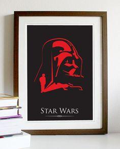 Star Wars Dark Vader Young Skywalker A3 Poster Print.