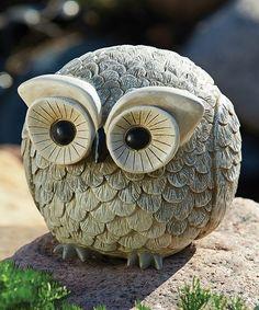 Look at this Gray Owl Statue on today! Schau dir diese Grey Owl Statue an heute! Ceramic Birds, Ceramic Animals, Clay Animals, Clay Owl, Owl Always Love You, Owl Crafts, Owl Bird, Animal Sculptures, Art Plastique