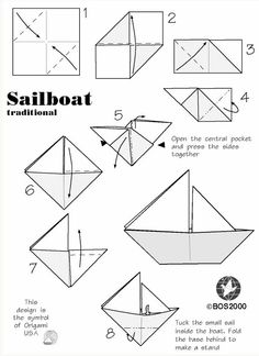 fácil ▷ 1001 + modèles d'origami faciles pour apprendre comment faire un bateau en . ▷ easy origami patterns to learn how to make a paper boat - Origami Boot, Origami Usa, Diy Origami, Origami Tutorial, Origami Boat Instructions, Origami Folding, Oragami, Origami Sailboat, Paper Boat Origami