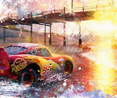 Items similar to Lightning McQueen print, Motivational & Inspirational Posters, Cars McQueen Watercolor Poster, Cars, Kids room Art Home Decor Painting on Etsy Disney Cars Movie, Disney Cars Party, Car Party, Animes Wallpapers, Car Wallpapers, Disney Cars Wallpaper, Cruz Ramirez, Home Decor Paintings, Art Decor