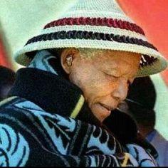 Nelson Mandela and traditional Basotho dress  www.SouthAfricanTvAds.com