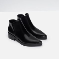 Image 3 of FLAT POINTED ANKLE BOOTS from Zara