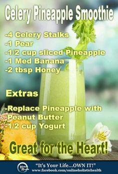 Celery Pineapple Smoothie