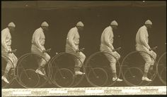 Fotó: Étienne Jules Marey: 'Chronophotograph of a Man on a Bicycle', ca. 1885-1890