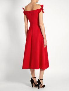 Ruth off-the-shoulder neoprene dress   Saloni   MATCHESFASHION.COM US