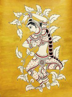 Kalamkari paintings, traditional and contemporary. Saree Painting, Kalamkari Painting, Kerala Mural Painting, Madhubani Painting, Fabric Painting, Dance Paintings, Indian Art Paintings, Girl Paintings, Abstract Paintings