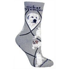Great Pyrenees Socks UK Size 3.5 to 6.5