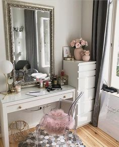 Home Interior Salas .Home Interior Salas Room Ideas Bedroom, Home Bedroom, Bedroom Decor, Dressing Table Decor, Glam Room, Cozy Room, Living Room Remodel, Beauty Room, My New Room